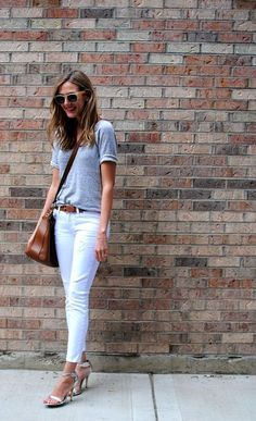 30 Fresh Ways To Wear White Jeans