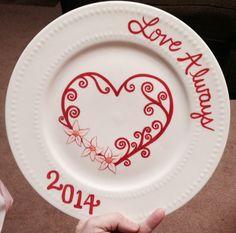 Valentine plate by Benita Strouth