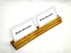 Multiple Business Wood Card Holder by WoodenWorldWilliams on Etsy