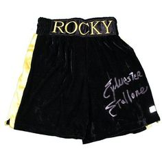 Steiner Sylvester Stallone Signed Rocky Boxing Trunks (Authentic Signings Auth)