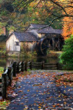 Autumn , Mabry Mill on the Blue Ridge Parkway in VA.