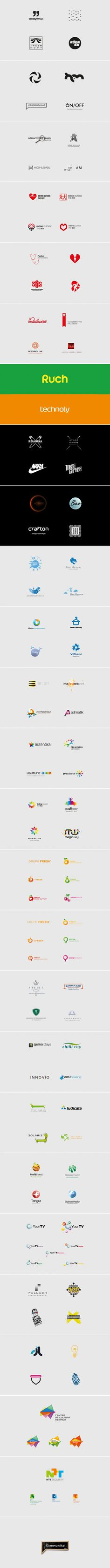 Logotheka contain concepts from 2006-2011. Selected logos designed by Kuba Enzowski. http://kommunikat.pl/portfolio/logotheka_vol1/
