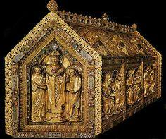 Het schitterend romaanse reliekschrijn van St. Servaas in Maastricht