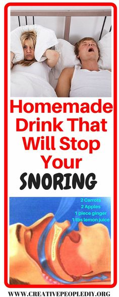 Home Made Drink That Will Stop Your Snoring and Solve the Night Torment