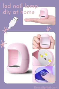 Сompact mini LED lamp for one finger, designed for polymerization of gels and gel polishes. Suitable for personal use. Convenient to take with you when traveling. Glitter Manicure, Nude Nails, Stiletto Nails, Led Nail Lamp, Led Lamp, Easy Art, Simple Art, Cat Eye Nails, First Finger