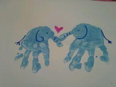 schöne bilder mit handabdruck hier sind zwei elefanten