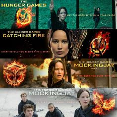 Katniss Everdeen- The Hunger Games, Catching Fire, Mockingjay Part 1 and Mockingjay Part 2
