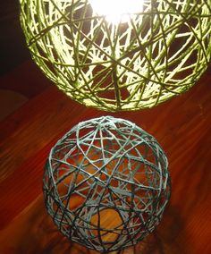 The art of making string lanterns or string lighting is not my original idea. I found this example  on the Internet and used their basic di...