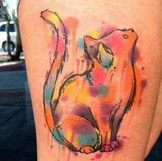 =^..^= Yup! It's a Watercolor Tattoo!