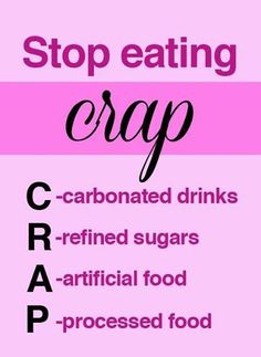 Fitness Motivational Quotes Stop Eating CRAP