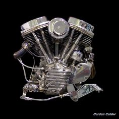 No 1: CLASSIC/ICONIC HARLEY DAVIDSON PANHEAD CHOPPER MOTORCYCLE ENGINE by Gordon Calder, via Flickr