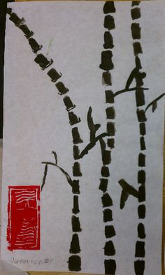 (Chinese new year or asian heritage month) Art Rocks!: Grade 3: Bamboo Paintings