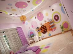 so cute for a girl's room... i'd probably use a different color palette, though..