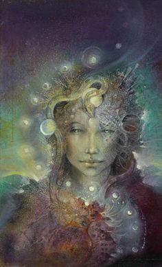 One of my favorite Athena images by Susan Seddon Boulet. Most people forget the snake symbolism for Athena. Art Visionnaire, Sacred Feminine, Divine Feminine, Feminine Energy, Goddess Art, Athena Goddess, Goddess Symbols, Saraswati Goddess, Moon Goddess