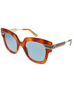 0597428ad7cf Gucci Women s Rectangular 50mm Sunglasses   Gilt Gucci