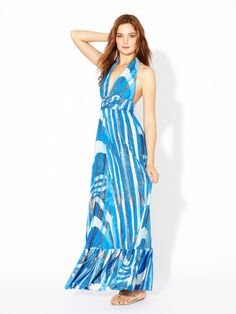 Jersey Knit Flared Maxi Dress by T-Bags on Gilt