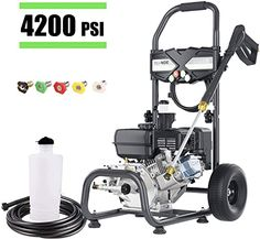 Enjoy Exclusive For Teande 4200psi Gas Pressure Washer 2 8gpm Power Washer 212cc Gas Pressure Washer Powered High Pressure Hose 5 Nozzles Black Online Chic In 2020 Pressure Washer Gas Lawn Mower