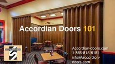 Accordian Doors 101 Accordion-doors.com 1-866-815-8151 info@accordion- doors.com