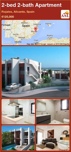 2-bed 2-bath Apartment in Rojales, Alicante, Spain ►€125,000 #PropertyForSaleInSpain