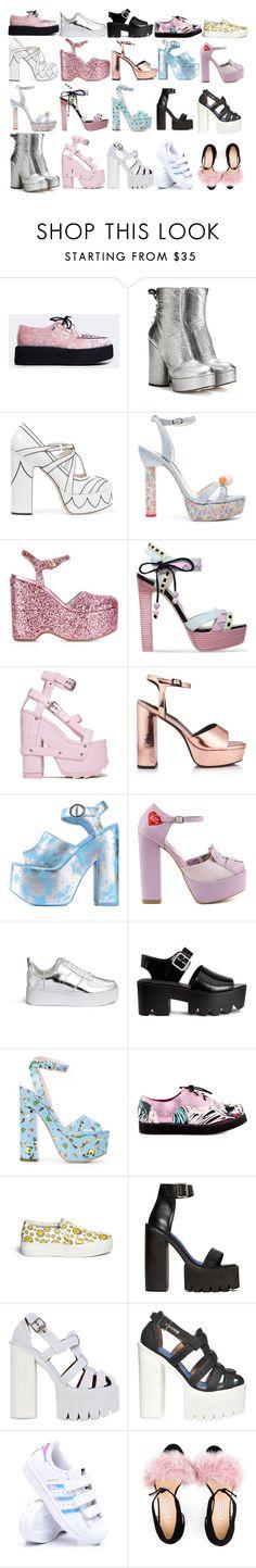 """mel's shoes"" by halsey666 ❤ liked on Polyvore featuring T.U.K., Marc Jacobs, Miu Miu, Sophia Webster, Chiara Ferragni, Senso, Iron Fist, Windsor Smith, Giamba and Joshua's"