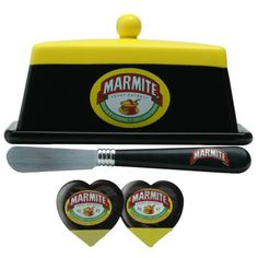 Marmite butter dish and knife #marmite