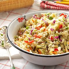 Crunchy Ramen Salad Recipe -For potlucks and picnics, this ramen noodle salad is a knockout. I tote the veggies in a bowl, dressing in a jar and noodles in a bag. Then shake them up together when it's time to eat. —LJ Porter, Bauxite, Arkansas