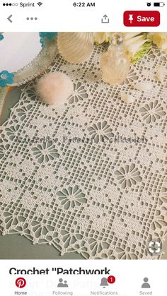 "Diy Crafts - -Crochet ""Patchwork Effect"" Doily Pattern Intermediate Skill Level, Crochet PDF Pattern Crochet Table Runner Pattern, Crochet Lace Edging, Thread Crochet, Lace Doilies, Crochet Doilies, Doily Patterns, Crochet Patterns, Pdf Patterns, Fillet Crochet"
