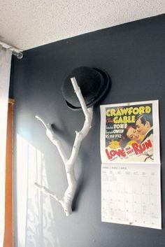 Diy hat rack, Hat holder and Organize hats, Hat hanger, Diy hat rack and Candle decorations,