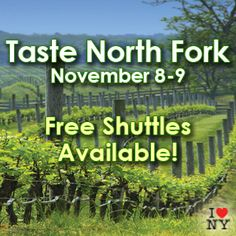 The Taste of North Fork is next weekend! For those of you visiting 11/7-9, here is info about the free shuttle service for this special event: