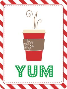 Filler card FREEBIE...for the love of red cups!