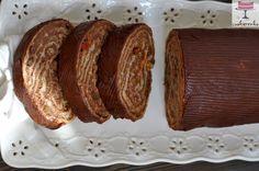 Domowa cookierenka Agi: Waflowa rolada z kaszą jaglaną, czyli zdrowsza wersja salcesonu :)