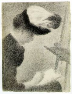Woman Seated by an Easel - Georges Seurat