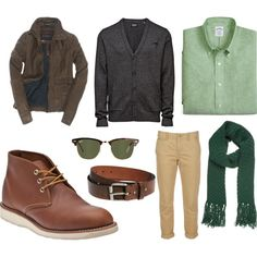 """Warm/ Deep Autumn Daytime Outfit"" by michael-drysdale on Polyvore"