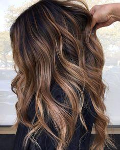 Copper Blonde Hair Color, Pale Blonde Hair, Brown Hair With Blonde Highlights, Brown Hair Balayage, Platinum Blonde Hair, Brunette Hair, Ash Blonde, Honey Balayage, Wavy Hair