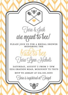 """""""Meant to Bee"""" Bridal Shower by Ashley Olson"""