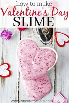 Make this easy slime recipe with your kids. They will love Valentine's Day Homemade Slime. DIY slime is a fun alternative to handing out candy and treats!