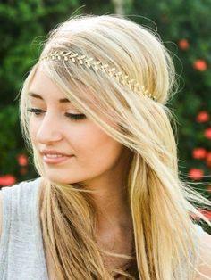 gold leaf headband | sassyshortcake.com