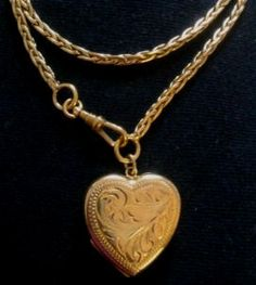 Vintage locket fob chain necklace