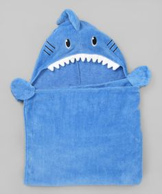 {Blue Shark Hooded Towel} These always crack me up.