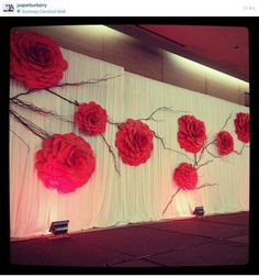 Wedding backdrop stage flower wall 56 ideas for 2019 Wedding backdrop stage flower wall 56 ideas for Giant Paper Flowers, Diy Flowers, Flower Decorations, Wedding Decorations, Wedding Ideas, Flower Centerpieces, Flower Ideas, Paper Flower Wall, Paper Flower Backdrop