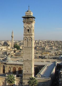 Aleppo , minaret of Umayyad mosque before destruction in war Islamic Architecture, Art And Architecture, The Beautiful Country, Beautiful World, Islamic City, Umayyad Mosque, Aleppo City, Mediterranean Architecture, Travel Tours