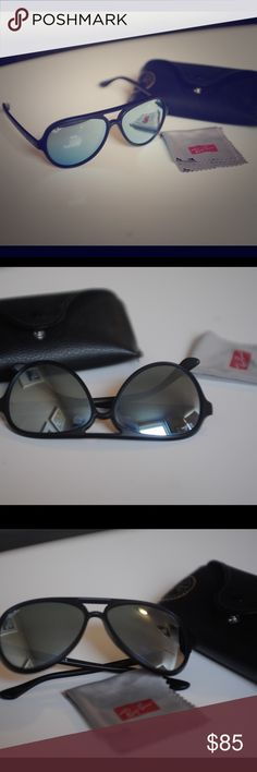 Ray-Ban Cats 5000 Silver Flash Sunglasses These are mint, and still include original case and cleansing cloth. Mirror polarized lenses. Excellent condition. Ray-Ban Accessories Sunglasses