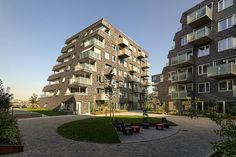 Sørenga Residential Complex 1 designed by LPO & Mad AS. Oslo
