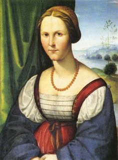 Coral necklace -- Caterinas Generous Chests-- 1525-1535 Francucci Innocenzo - Portrait of a woman