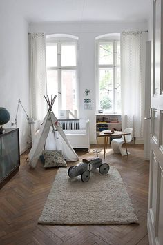 Scandi apartment in Berlin- love the architecture and decor of this space- kid friendly.