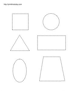 Free printable worksheets with basic shapes for preschool kids Shape Worksheets For Preschool, Shape Tracing Worksheets, Preschool Printables, Preschool Activities, Printable Shapes, Free Printable Worksheets, Free Printables, Teaching Kids, Kids Learning