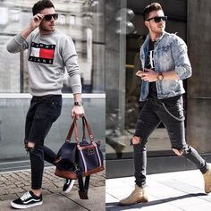 """3,156 Likes, 45 Comments - Mensfashion ▪️Street ▪️Style (@mensfashion_guide) on Instagram: """"Left or right? Follow @mensfashion_guide for more! By @_maglu_ #mensfashion_guide #mensguides"""""""