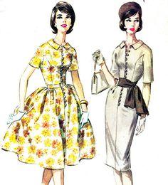 1960s Dress Pattern McCalls 5720 Sheath or Full by paneenjerez, $18.00