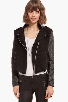 Tweedle Quilt Leather Jacket $88 at www.tobi.com