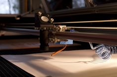 Nortd Labs' Lasersaur: An Affordable, Open Source Laser Cutter.  Air assist in action by allartburns, via Flickr